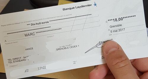cheque travail a domicile